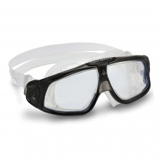 Aqua Sphere 'SEAL 2.0' Men's Goggles - Black/Grey with Clear Lens