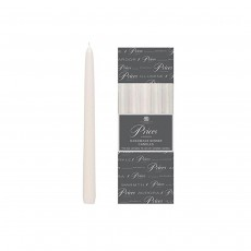 Price's Venetian Dinner Candles x 10 - White