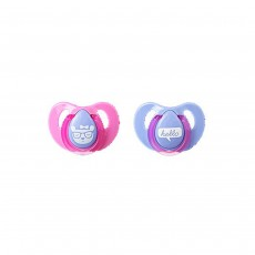 Tommee Tippee Essential Basics Decorated Cherry Soothers 6-18m - Pack of 2