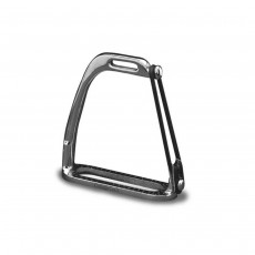 Cottage Craft Peacock Safety Stirrups - Silver, 4 Inch