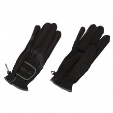 Harry Hall Domy Suede Gloves - Black, Extra Small