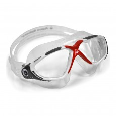 Aqua Sphere 'VISTA' Men's Goggles - White/Red with Clear Lens