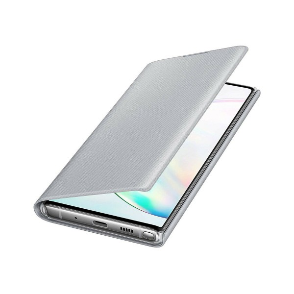 Samsung Original Galaxy Note 10 LED View Cover Case - Silver