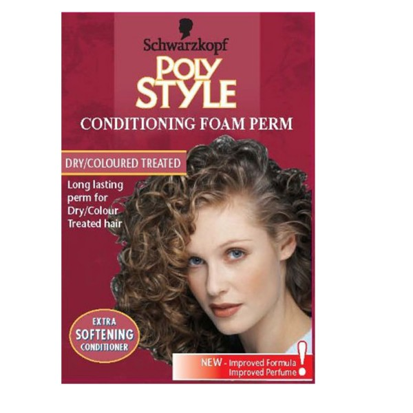 Poly Style Conditioning Foam Perm Dry/Colour Treated Hair - Pink
