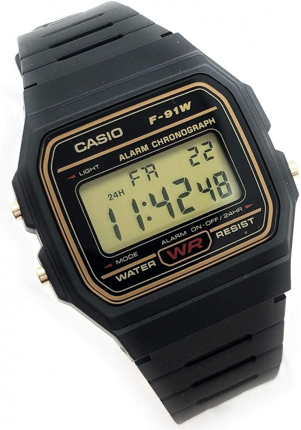 Casio Men's Digital Watch with Resin Strap in Black - Water Resist