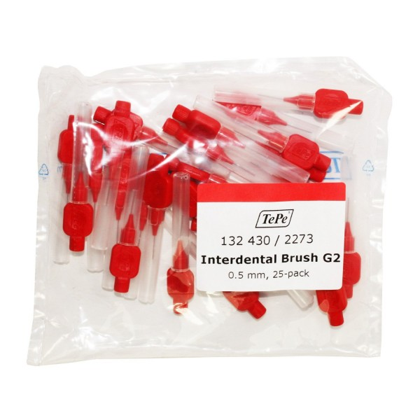TePe Original Interdental Brushes (25 Pack) - Red 0.5mm