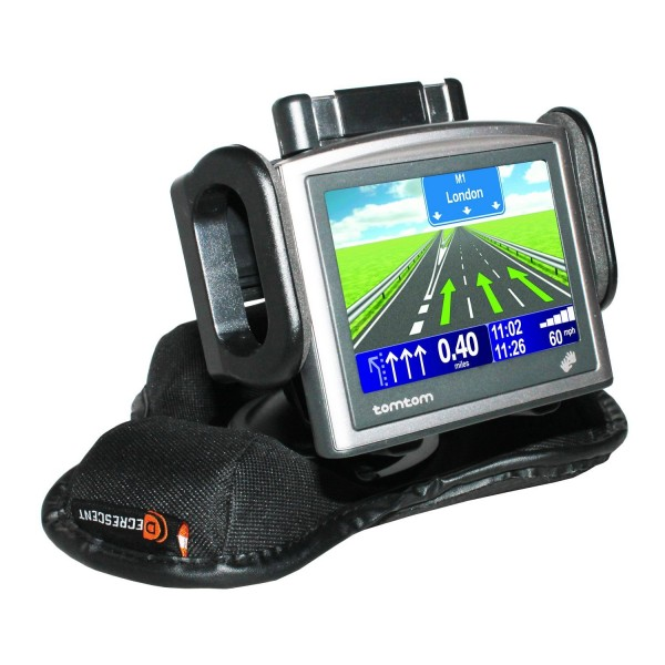 Decrescent Universal Weighted Beanbag Dashboard Friction Mount for GPS/Mobile Device - Black
