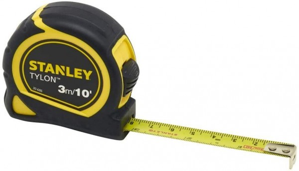 Stanley Tools Tylon™ Pocket Tape Supplied Carded with Metric Grade - 3m / 10ft