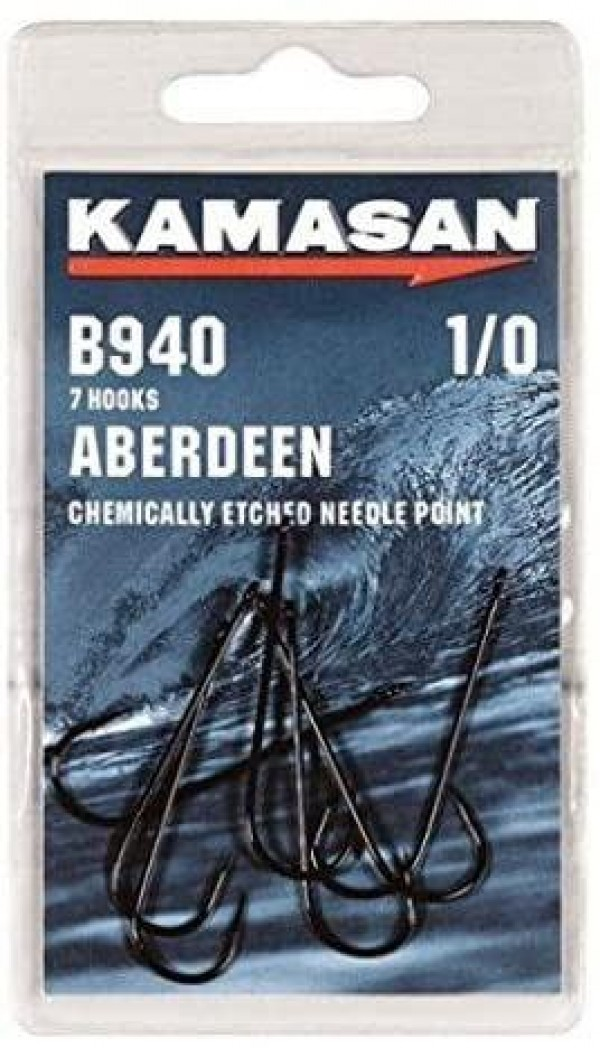 Kamasan B940 Aberdeen Hooks - Chemically Etched Needle Point