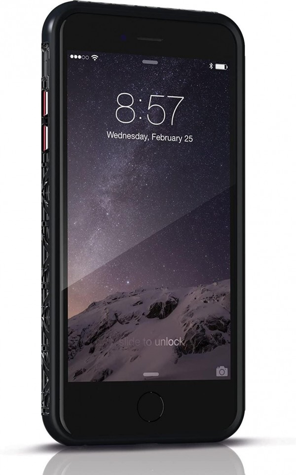 Zagg Invisible Shield Orbit Extreme Case with Glass in Black for iPhone 6
