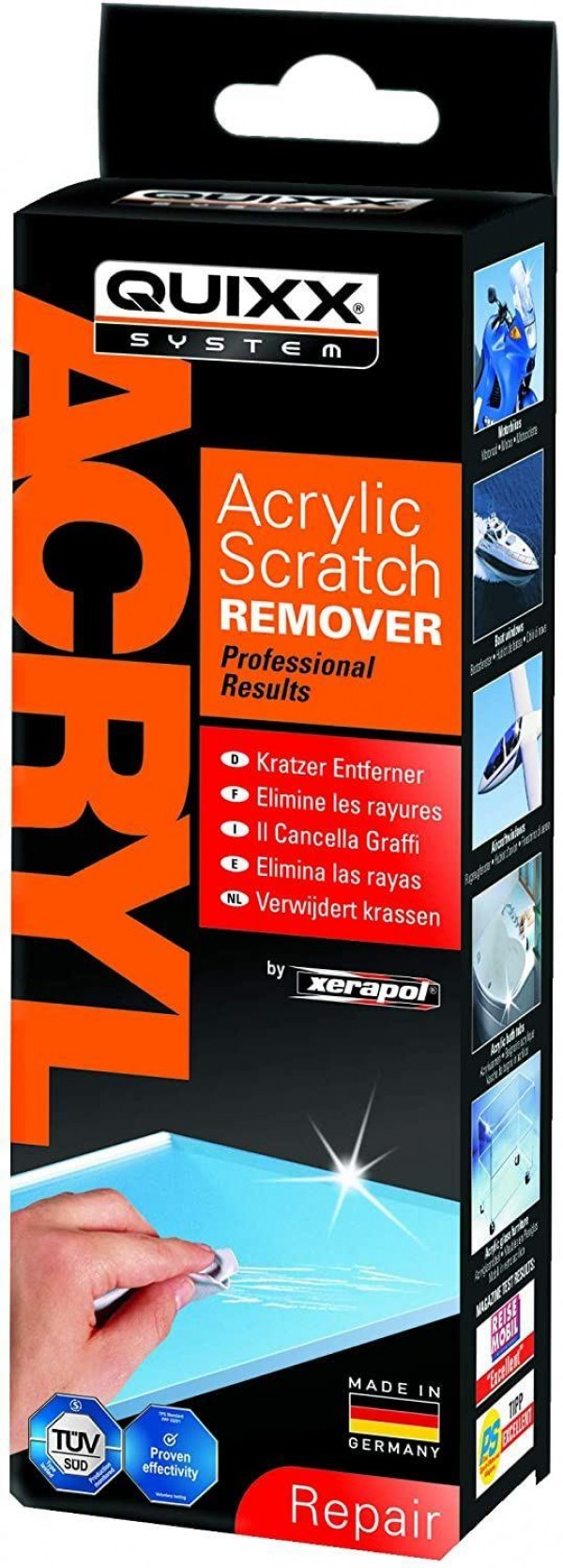 Quixx Acrylic Scratch Remover for Professional Repair Results