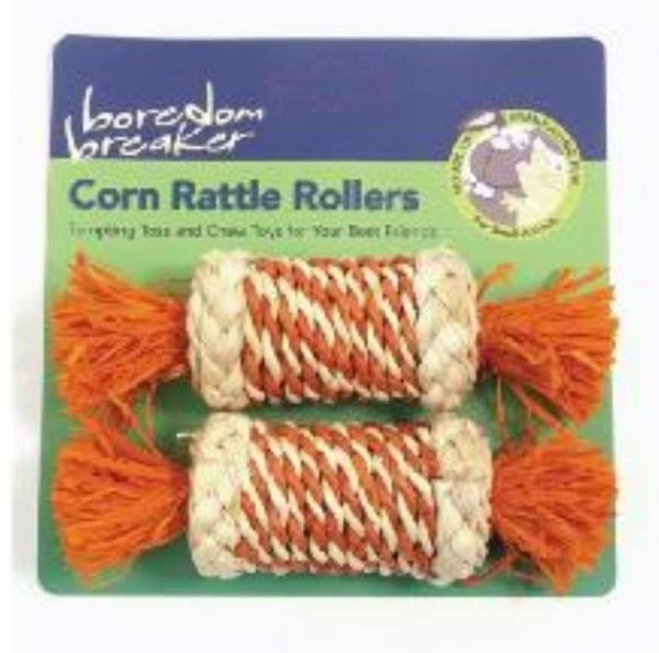Rosewood Boredom Breaker Small Animal Activity Toy Corn Rattle Rollers - x2