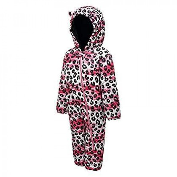 Dare 2b Kid's Hooded Character Rain and Snowsuit in Black - 36 / 48 Months