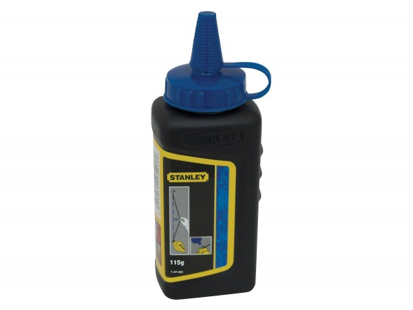 Stanley Tools Chalk Refill in Blue for Interior and Exterior Use - 113 g