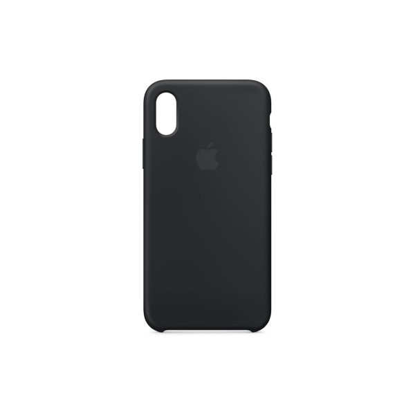 ​​Apple MQT12ZM/A Silicone Protective Back Cover for iPhone X - Black