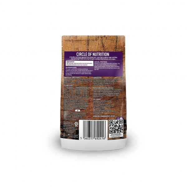 BILLY + MARGOT BOAR WITH SUPERFOODS POUCHED WET DOG FOOD (PACK OF 12)