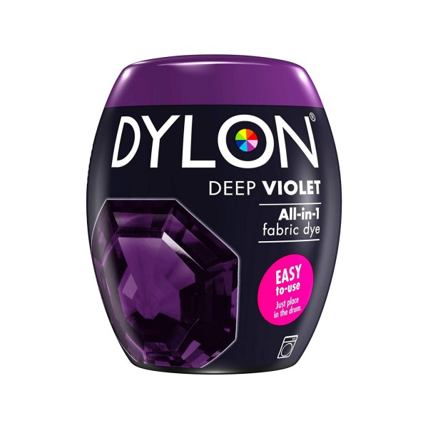 DYLON Machine Dye Pod, 30 Deep Violet, easy-to-use fabric colour for laundry, 350g