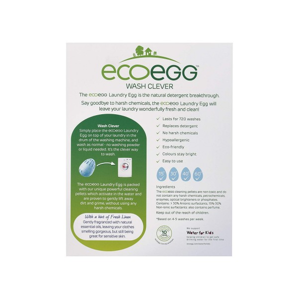 Ecoegg Laundry Egg 720 Washes - Fresh Linen