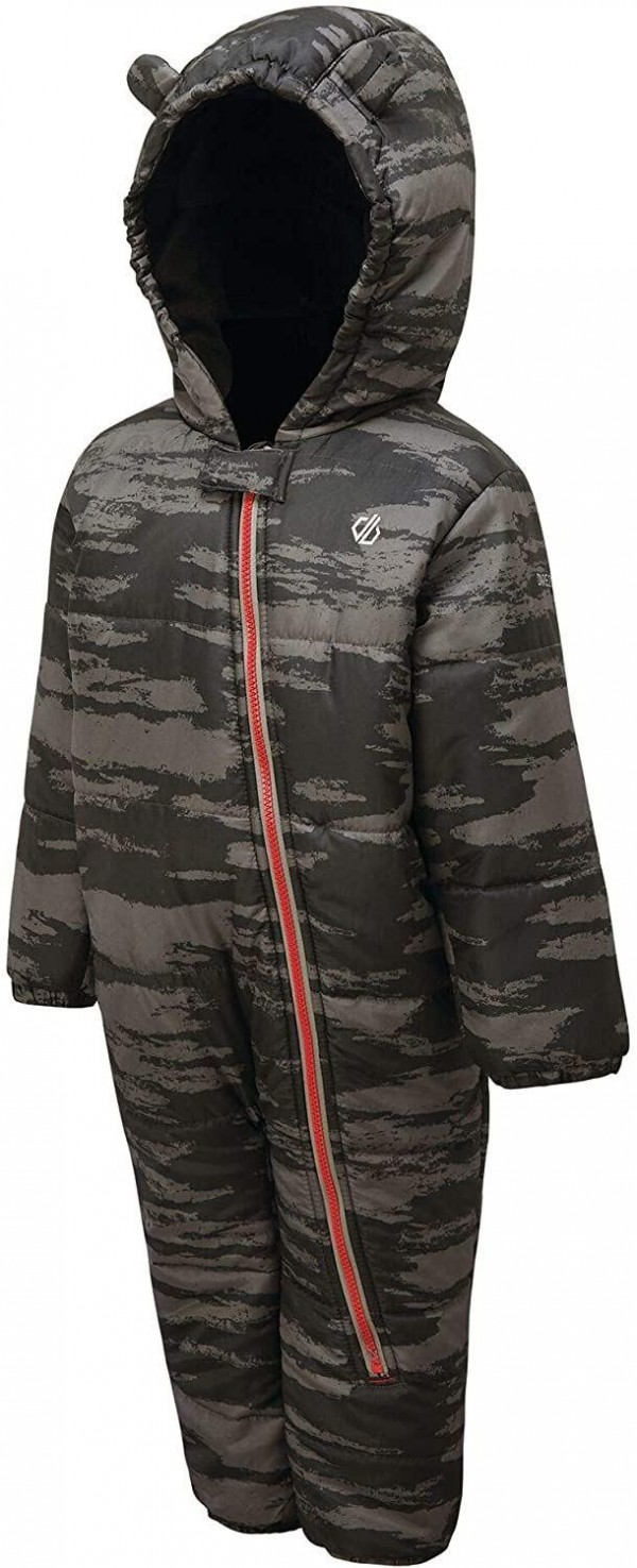 Dare 2b Kid's Hooded Character Rain and Snowsuit in Grey - 12 / 18 Months