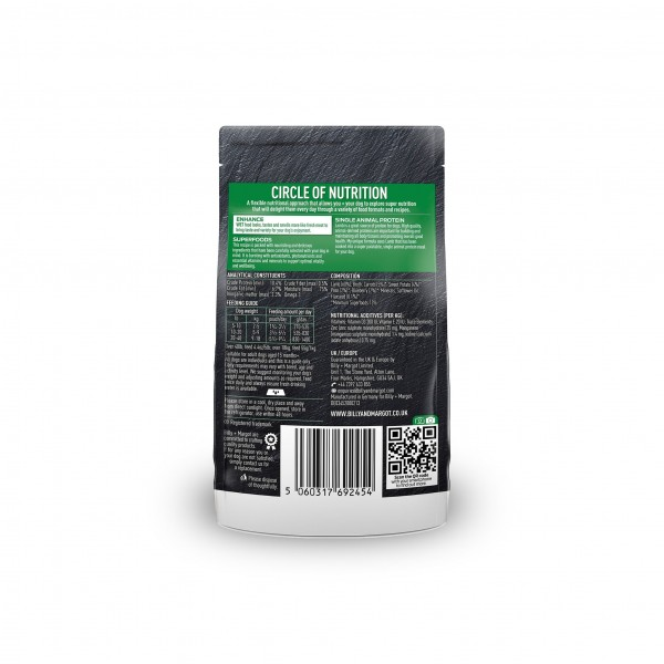 BILLY + MARGOT LAMB WITH SUPERFOODS POUCHED WET DOG FOOD (PACK OF 12)