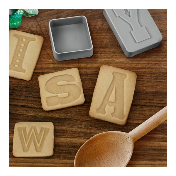 Fred & Friends LETTER PRESSED cookie cutters