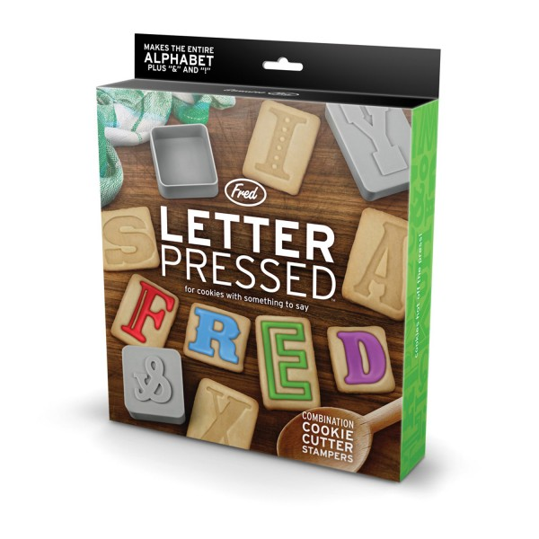 Fred & Friends LETTER PRESSED bisuit cutters