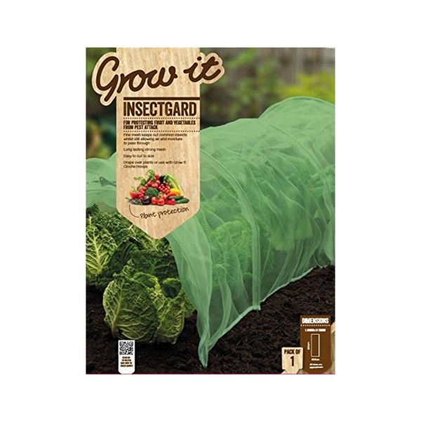 Gardman Growit Insectgard pest insect protection protective mesh cover for plants fruit vegetables no pesticides environmentally friendly buy online uk