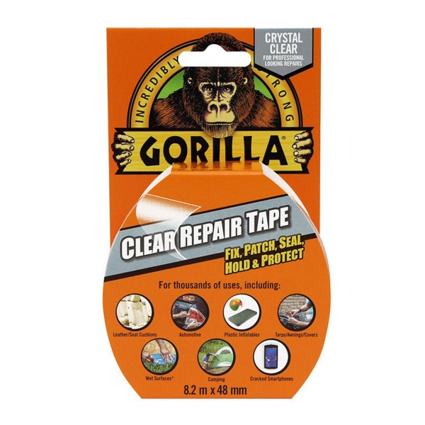 Gorilla Tape Repair Tape Clear 8.2m