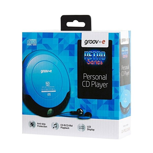 Groov-e Personal CD Player - Blue