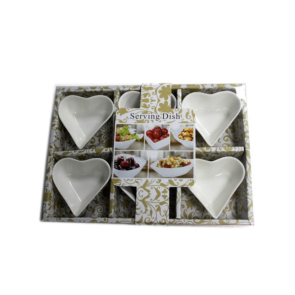 Heart Shaped Olive Dishes - 6 Pack