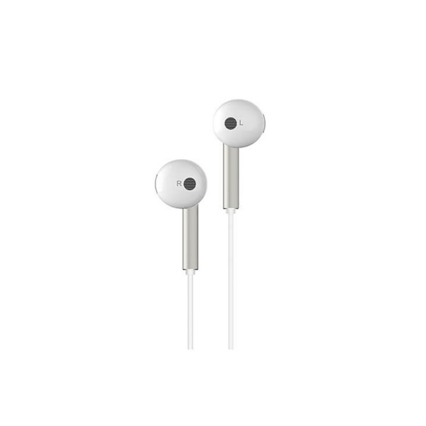 Original Huawei AM116 Earphone 3.5mm Headphones - White/Silver