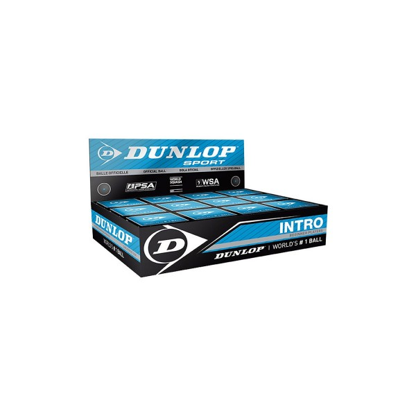 Dunlop 'Intro' Squash Ball, Single Blue Dot box