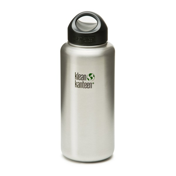 Klean Kanteen 27oz Wide-Mouth - Brushed Stainless