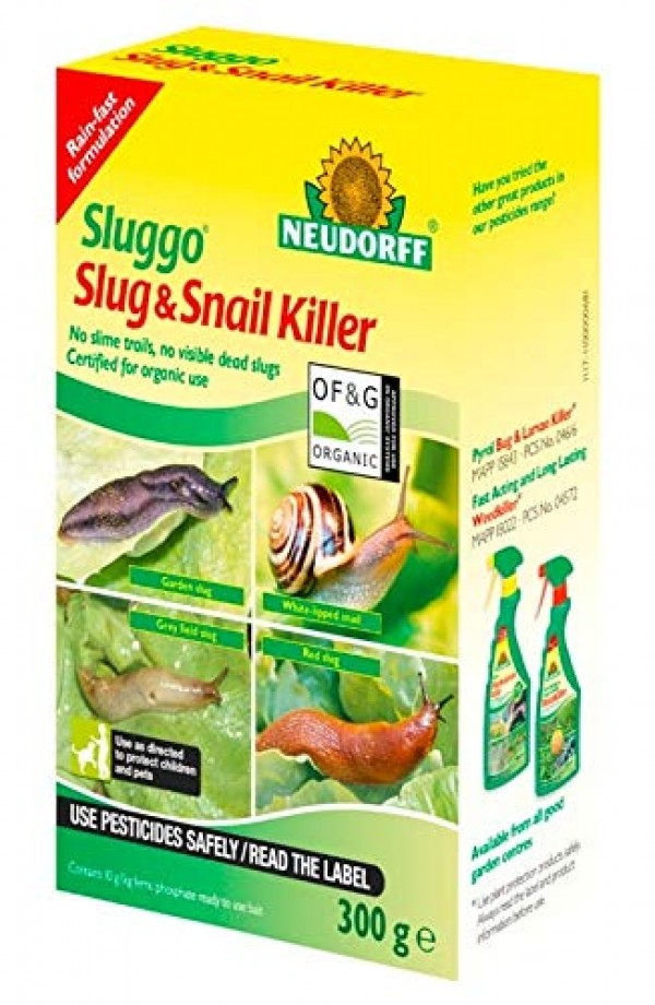 Neudorff SLUGGO Slug and Snail Killer 300g Organic Wildlife and pet friendly safe buy online uk
