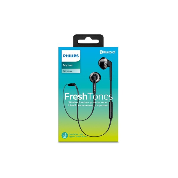 Philips SHB5250WT Wireless Bluetooth Earphones with Microphone - White