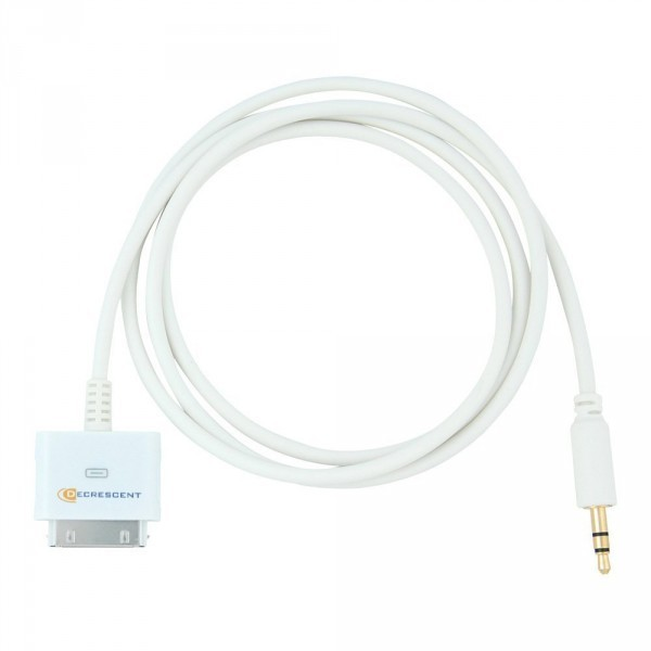Decrescent Dock Connector to 3.5mm Jack Car Stereo Auxiliary Line Out Audio Cable Lead for Apple iPod, iPhone and iPad