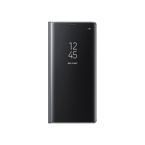 Genuine Samsung Full Screen Protection Clear View Case Protetive Cover for Galaxy Note 8 - Black