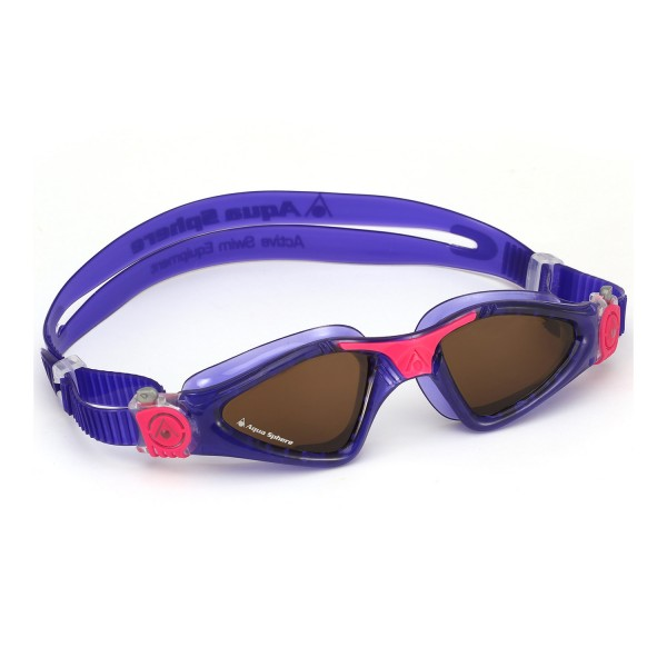Aqua Sphere 'Kayenne' Ladies Swimming/Triathlon Goggles - Violet/Pink with POLARIZED Lens