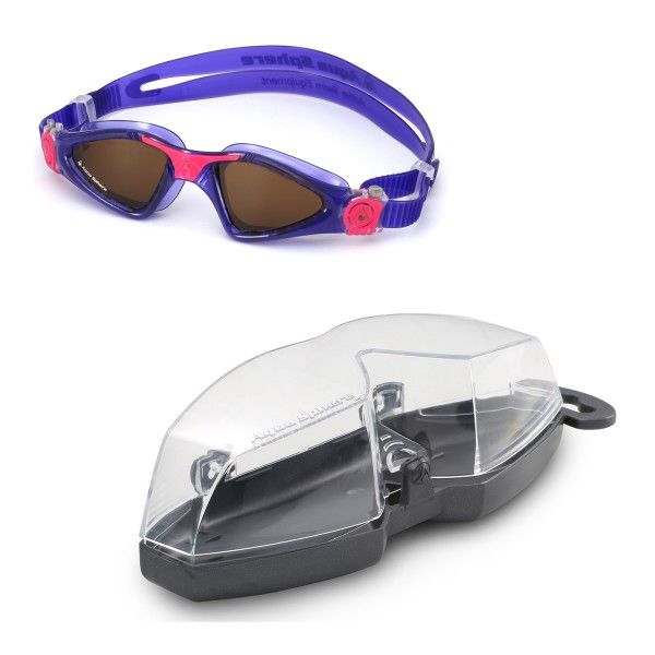 aee04c56efe ... Aqua Sphere  Kayenne  Ladies Swimming Triathlon Goggles - Violet Pink  with POLARIZED ...