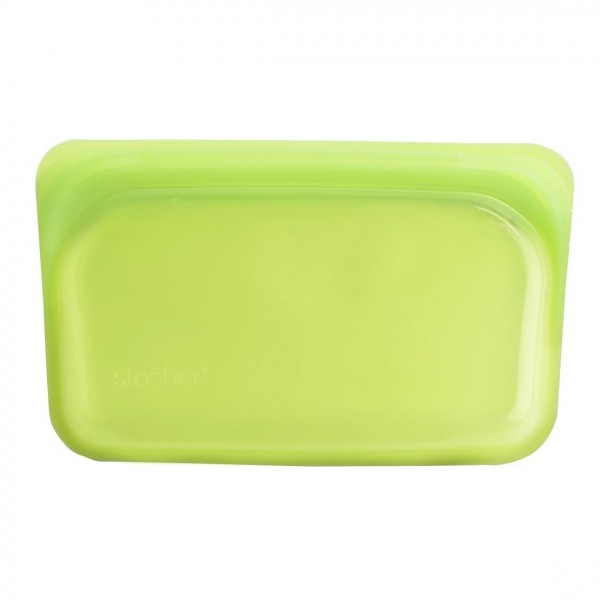 Stasher Re-Usable Silicone Bag for Cooking, Freezing, Storing and Travelling, Small / 11.45 cm x 19.05 cm, Lime