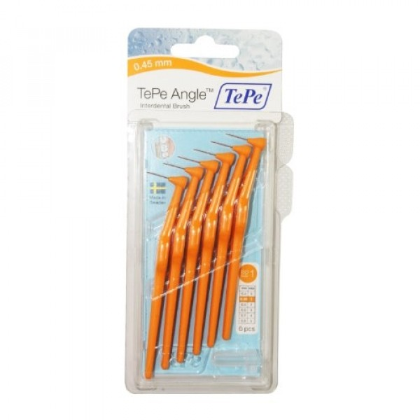 TePe Angle Interdental Brush Orange 0.45mm - ISO size 1