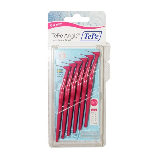 TePe Angle Interdental Brushes Pink 0.4mm - ISO size 0
