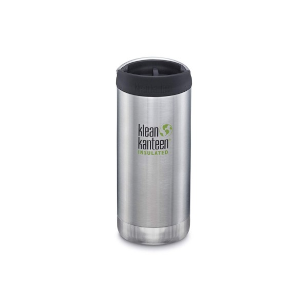 Klean Kanteen Insulated TKWide 355ml w/ Cafe Cap - Brushed Stainless