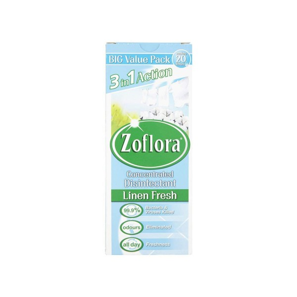 Zoflora 3 in 1 Action Concentrated Disinfectant Linen Fresh 500ml buy online uk