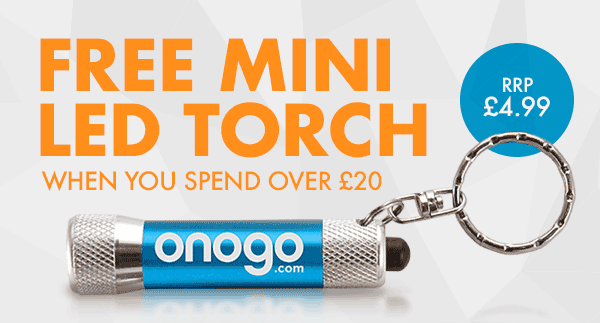 FREE LED Torch when you spend £20 or more
